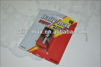 Super 9V Alkaline Battery(6LR61)