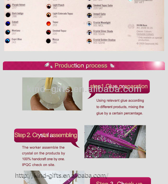 Wholesale Crystal Custom Logo Crystal Led Tweezers
