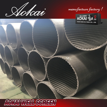water sand 10 well screen stainless steel slot tube AK with ISO9001