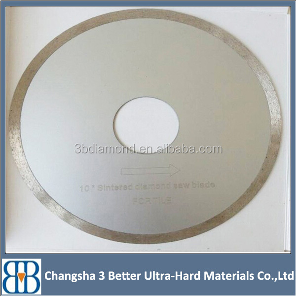 AAA grade laser welding continuous rim diamond saw blades for gem cutting