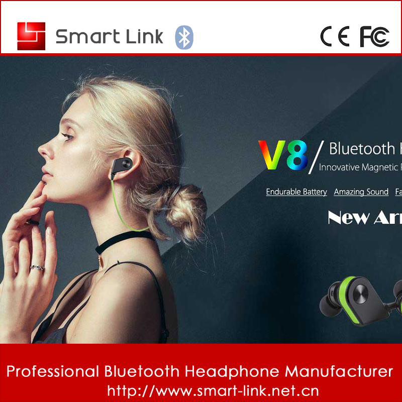 V8 Best Sound quality Wireless Stereo Sport Earphone Bluetooth