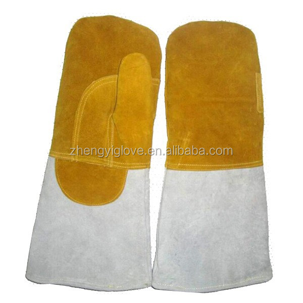 Cow leather two finger gloves