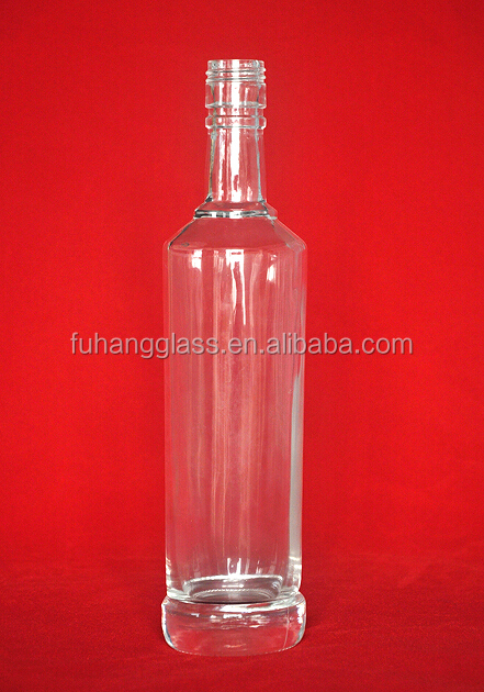 Glass Material and Beverage Industrial Use 75cl alcohol drinking bottle
