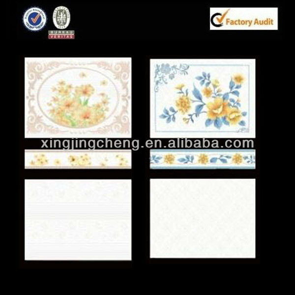 decals ceramic border with motif tile wall for bathroom