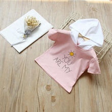Summer Letter Printing Baby Hooded Sweater