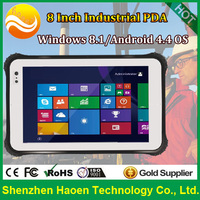 8 inch Waterproof Rugged Windows Tablet PC, Rugged windows tablets With HDMI Standard USB Serial Port NFC RFID Barcode scanner