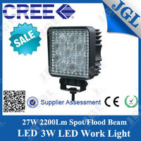 Lightstorm 27W led light lamp 12v offroad led work light, waterproof lights for cars, machine