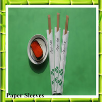Paper Sleeves Plastic Cover Custom Bamboo Brown/Carbon Chopsticks