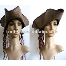 Cheap halloween leather pirate hat Factory MH-0936