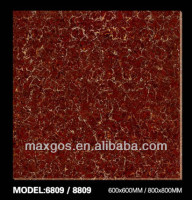 Cheap glazed red vinyl floor tiles