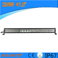 Super bright 6000k 224w auto parts led light bar with spot/flood combination