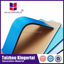 Alucoworld high strength color solar unbroken aluminum composite panel exterior construction sandwich wall panel