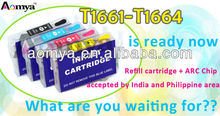 Refillale ink cartridge for Epson Expression ME-10 ME-101 T1661/T1662/T1663/T1664