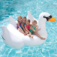 74Inch Inflatable White Swam adult duck swimming ring Water Toys Play