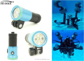 Hot selling scuba diving video light 32650 li-ion battery