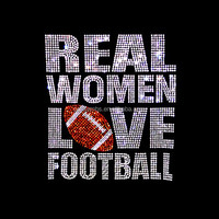 Real Women Love Football Rhinestone Hotfix Transfers Wholesale Bling Heat Designs