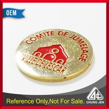 China Supplier cheap custom embossed cut out gold plated trolley token maker