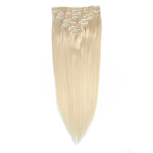 Wholesale 8A Grade Blonde Color Body Wave Clip In Virgin Brazilian Remy Human Hair Extensions