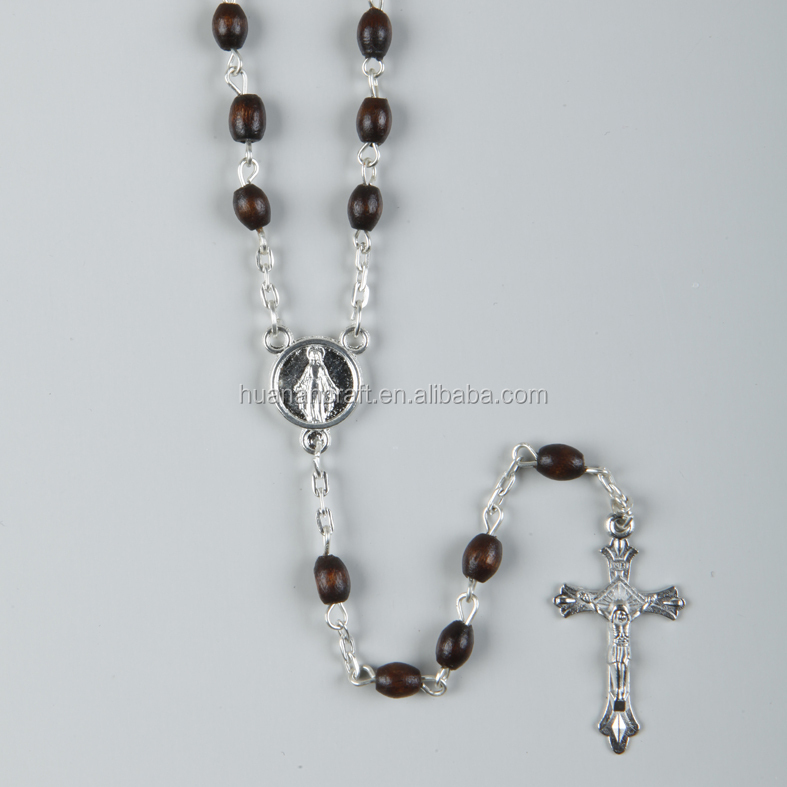 Wholesale Various sizes colors Lead free catholic wood rosary,wooden rosary catholic rosary