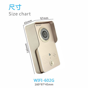 ACTOP wifi-602 gold wifi video door phone system aluminum alloy shell support IOS & Android smart Phone
