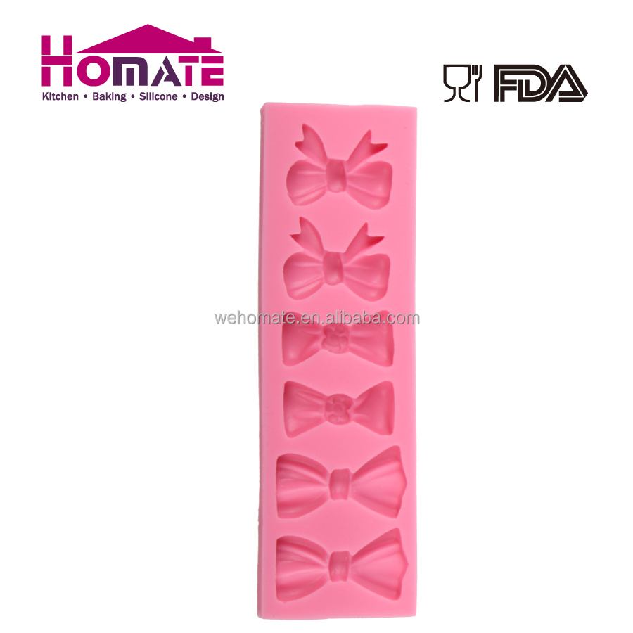 Silicone fondant mould bowknot cake decoration
