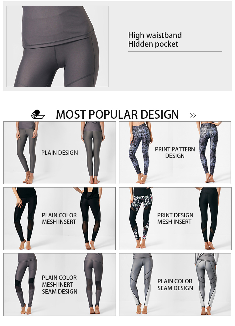 2017 blank activewear manufacturer custom high waisted yoga gym sports fitness leggings for women wholesale