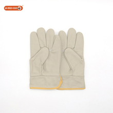 SHINEHOO Cheap Short Leather Welding Puncture Resistant Safety Gloves Work