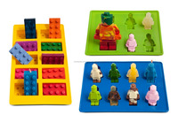 wholesale BPA free FDA food grade candy chocolate ice cube lego silicone molds of cartoon characters