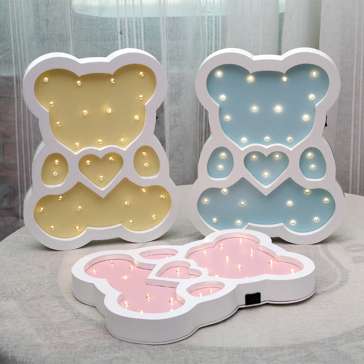 Wholesale fashion room decoration birthday gifts creative LED bear night light lamp for children