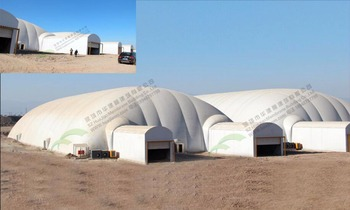 Air dome tent for warehouse