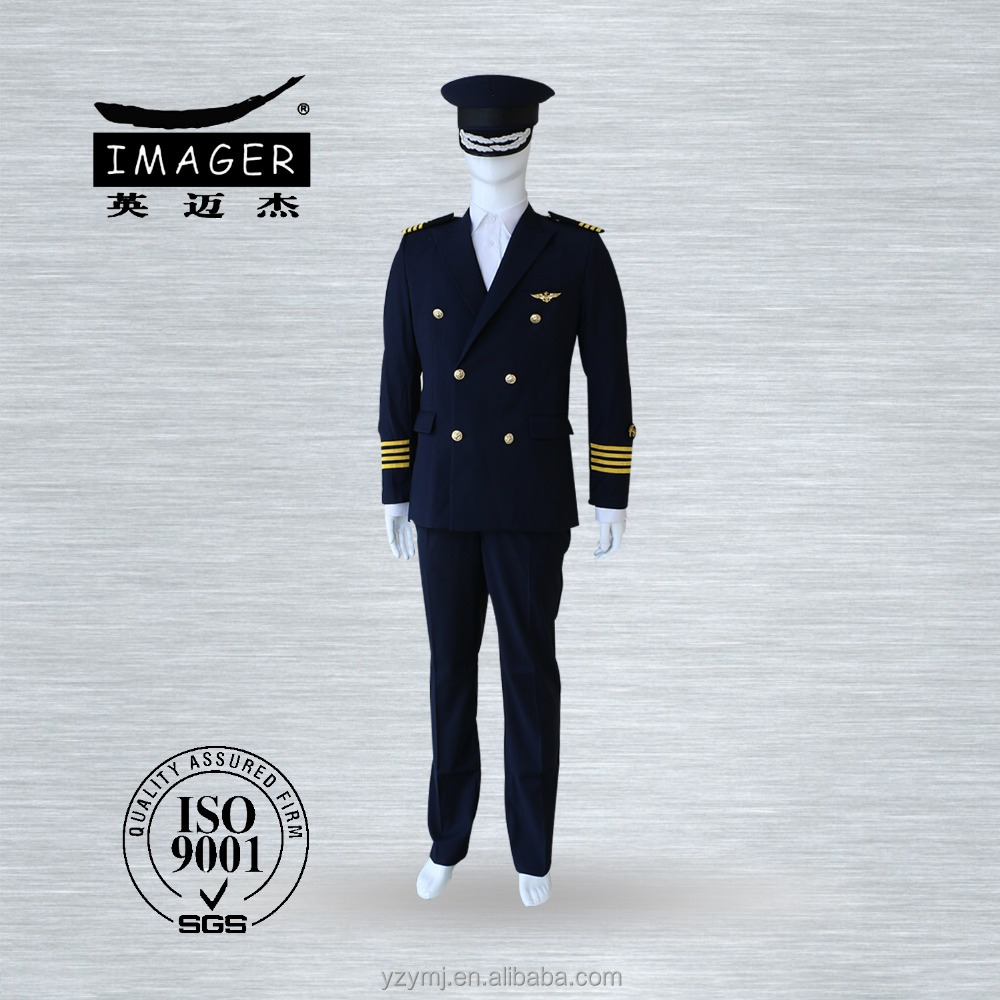 Men formal uniform for military army navy and pilot officers with high quality