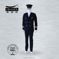 Men formal uniform for miltary army navy and pilot officers with high quality