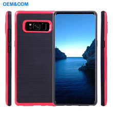 2018 Hot Selling Soft TPU Brushless Frame Mobile Phone Case For Samsung Galaxy Note 8