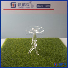China manufacturer wholesale single small acrylic cake display stand / high transparency perspex cupcake stands holder