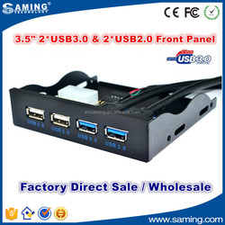 "3.5"" 3.5 inch Floppy Drive Bay Super Speed 2* USB 2.0 & 2*USB 3.0 Front Panel"