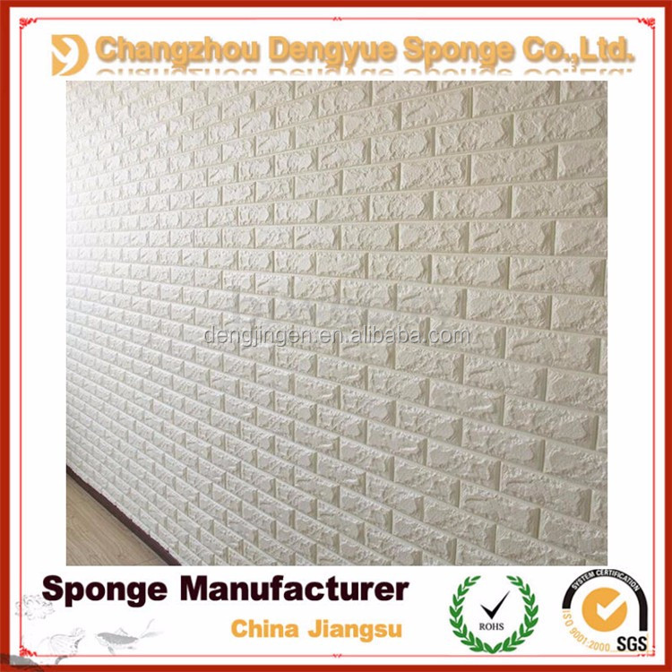 interior decoration soundproof/noise insulation 3D PE Foam Wall Sticker Panels