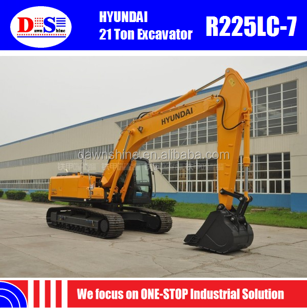HYUNDAI 220 Excavator R225LC-7 New 22 Tons Excavator for Sale