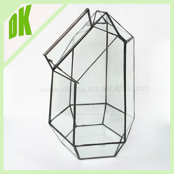 >>> place a small bouquet of flowers or candy in them >>> Spring Candle Decor >> geometric glass crystal gem candle holder