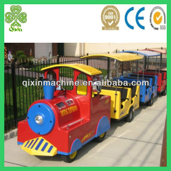 Popular battery amusement park trackless train children game