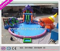 Best price game toys used swimming pool inflatable slide