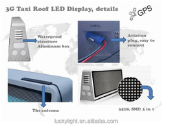 hd led panels taxi cab top lights, taxi sign, taxi monitor