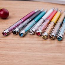Business gift pen with logo promotional metal ball pen touch screen cheap price crystal stylus ball pen