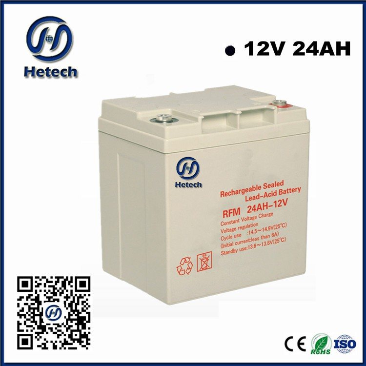 5 years warranty free maintenance 12v 24AH deep cycle strage batteries