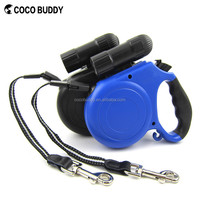 Top Sale LED Light Heavy Duty Retractable Pet Dog Leash With Torch Flashlight
