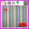 100% cotton white and yellow brown blue green stripe fabric