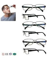 2015 hotsell women men classic glass frame eyes with spring hinge