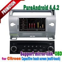 7'' TV BT bluetooth android system car gps navigation for citroen c4 with Can bus