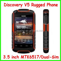 Cheap price 3.5 inch MTK6517 Dual Core dustproof discovery v5 rugged phone