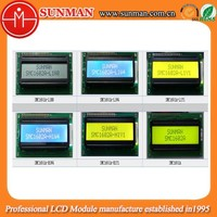 TN 16 characters X 2 lines lcd module with green/yellow/blue backlight
