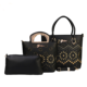 TH6568 Chic 2018 new design pu lady bag 3 pcs big handbag sets